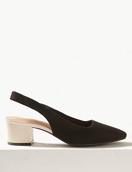 Square Toe Slingback Shoes