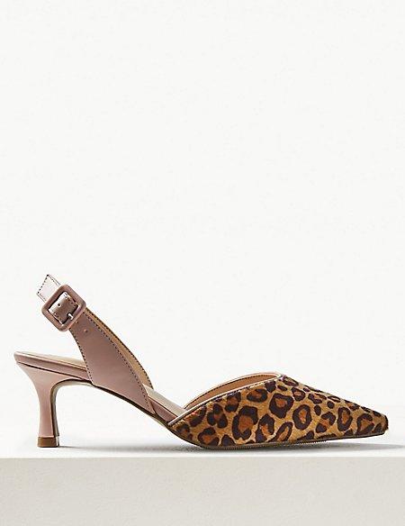 Kitten Heel Slingback Shoes