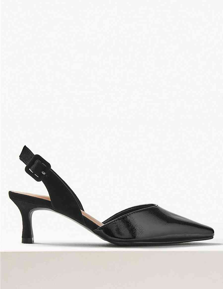 4018dd11fa7 Kitten Heel Slingback Shoes