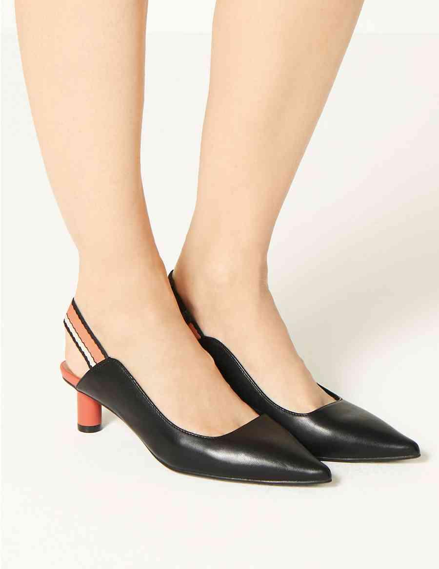 fd04d6f9b618 Pointed Toe Slingback Shoes