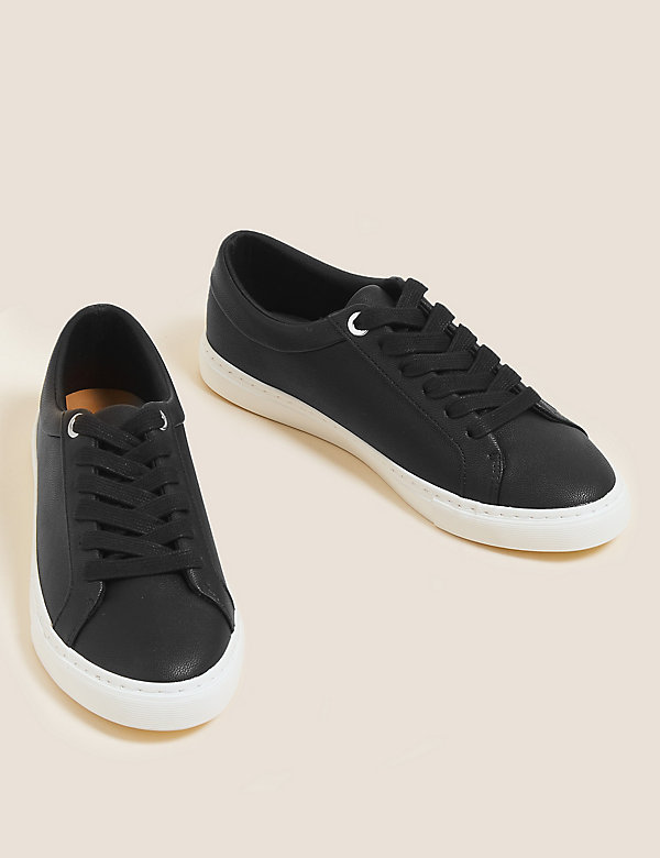 Lace Up Eyelet Detail Trainers