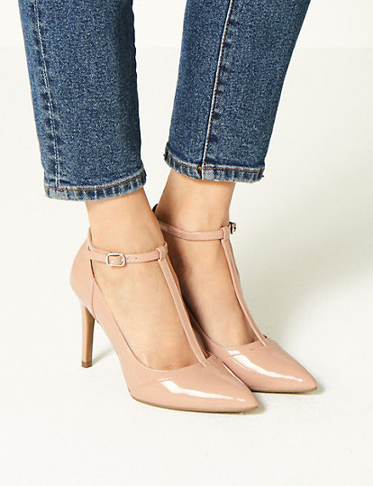 7fc5e136981 Stiletto Heel T-Bar Court Shoes | All Shoes | Marks and Spencer AU