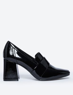 Patent Flared Block Heel Loafers by Marks & Spencer