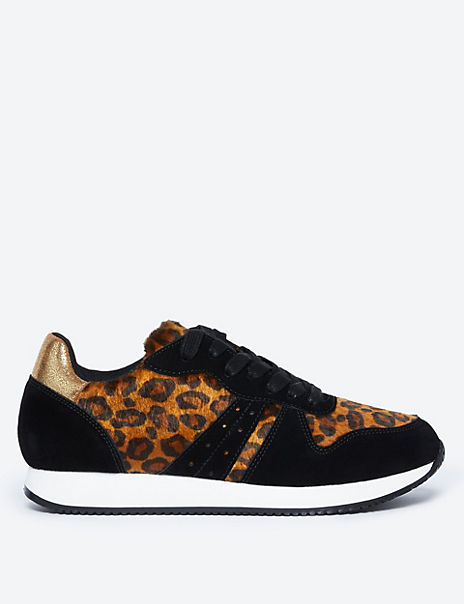 Light as Air™ Leopard Print Trainers