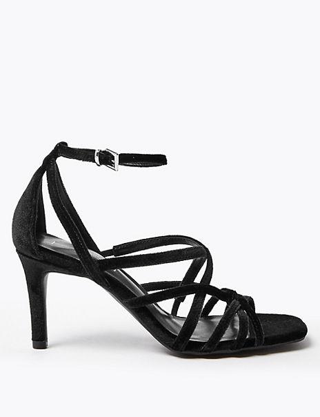 Multi Strap Stiletto Heel Sandals