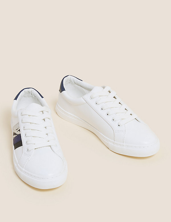 Lace Up Ribbon Detail Trainer