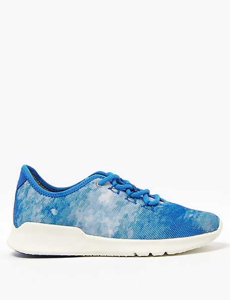 Lace Up Tie Dye Trainers