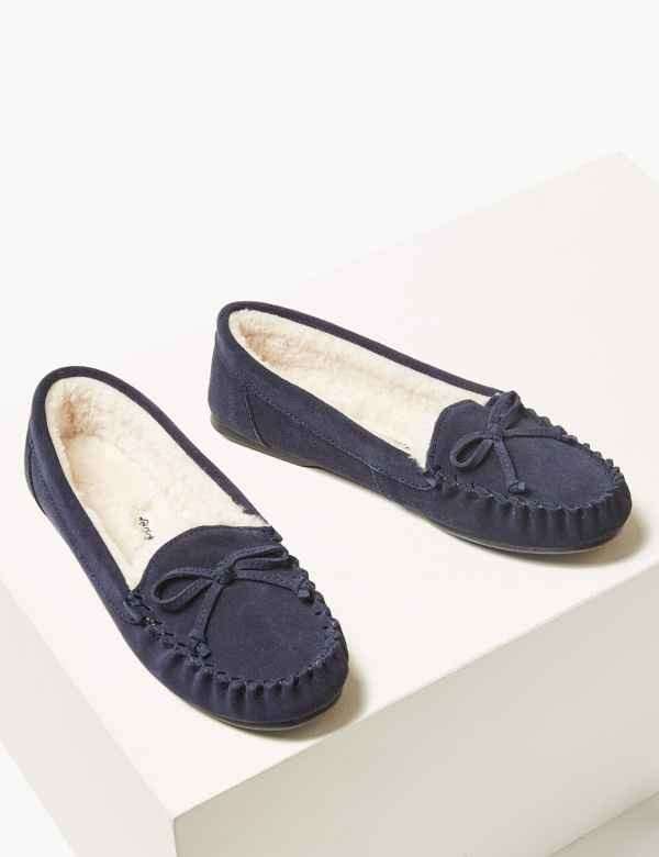 50cbd9168a2d Suede Moccasin Slippers