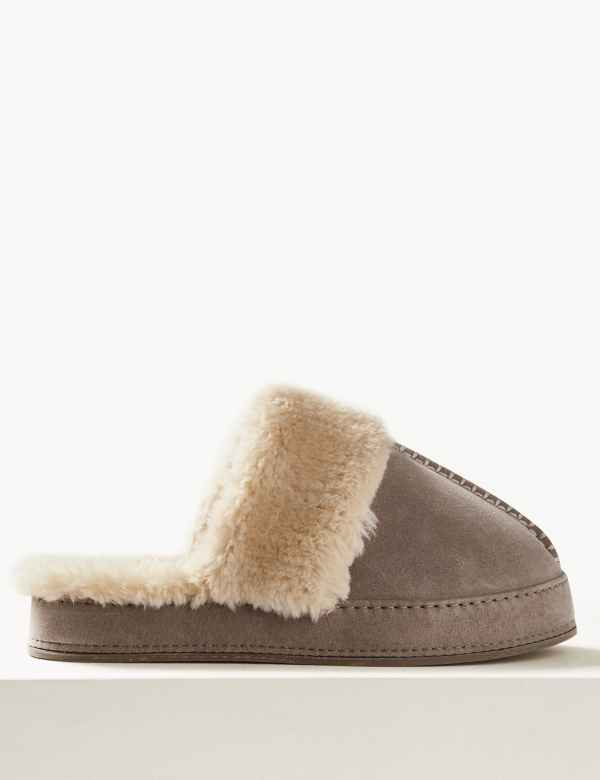 Brown Mule slippers Shoes & Boots