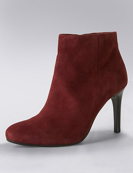 Stain Away™ Suede Ankle Boots with Insolia®