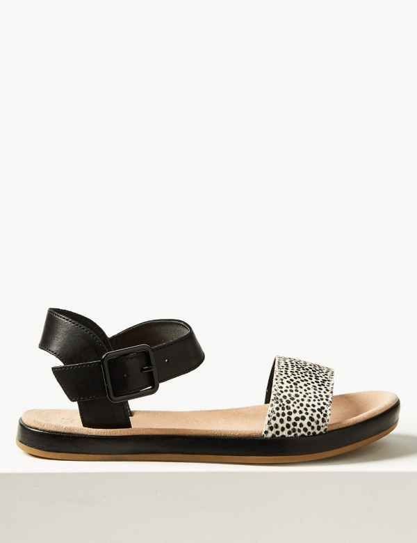9513f9b29 Leather Two Band Sandals