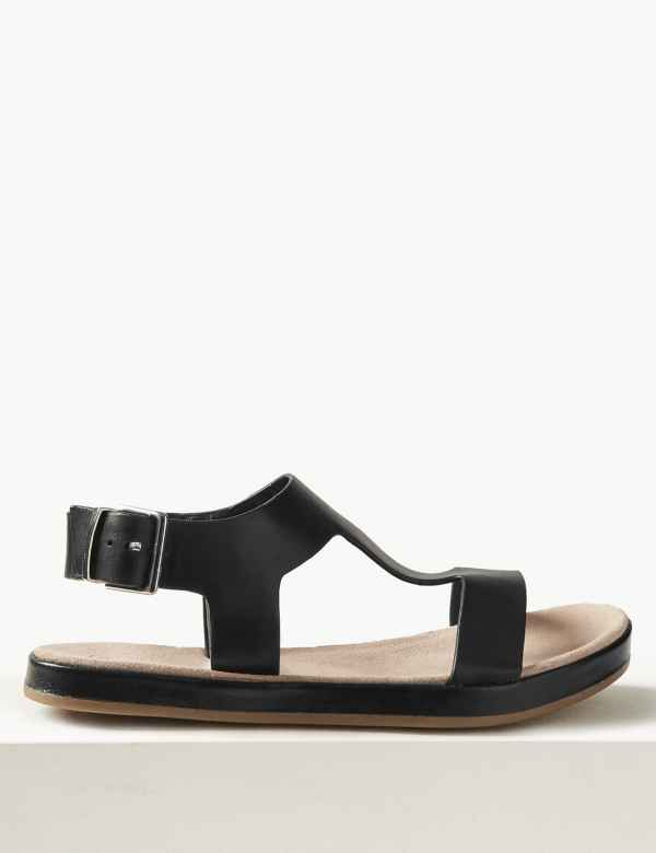 d64be440b76 Leather T-Bar Sandals
