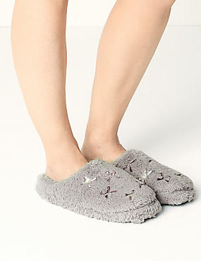 Mule Bow Detail Slippers, , catlanding
