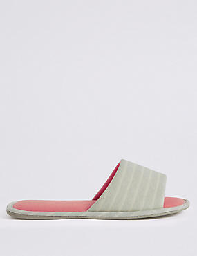 Striped Mule Slippers
