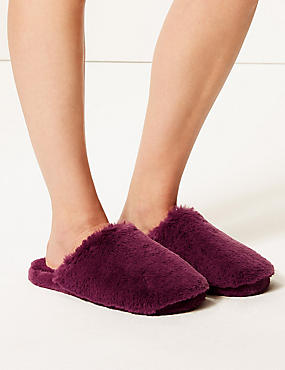 Faux Fur Mule Slippers