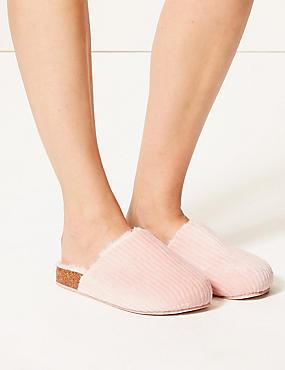 Corduroy Mule Slippers