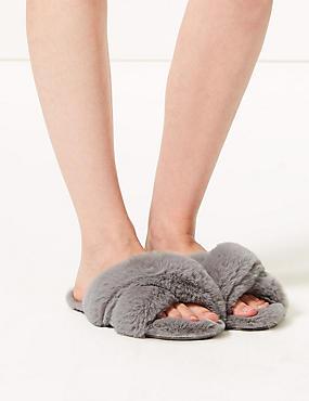 Crossover Ballerina Slippers