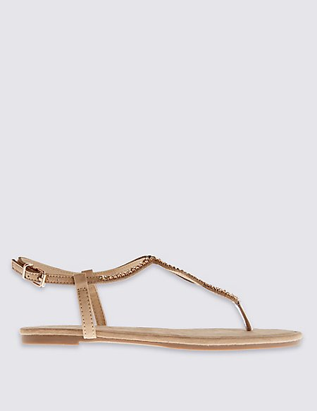 Twisted Toe Thong Sandals