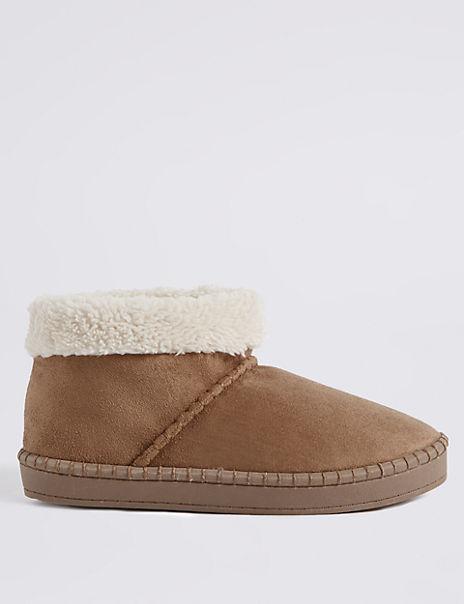 Fur Slipper Boots