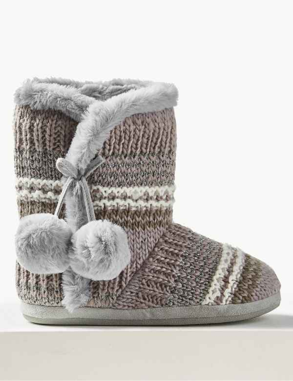 d6b91715c55 Slipper boots | Womens Slippers | M&S