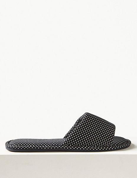 All Over Spotted Mule Slippers