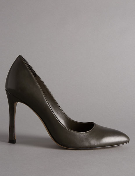 Leather Stiletto Court Shoes with Insolia®