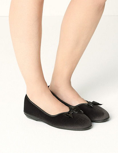 best quality cute free delivery Pull-on V-Throat Bow Ballerina Slippers | All Shoes | Marks and ...