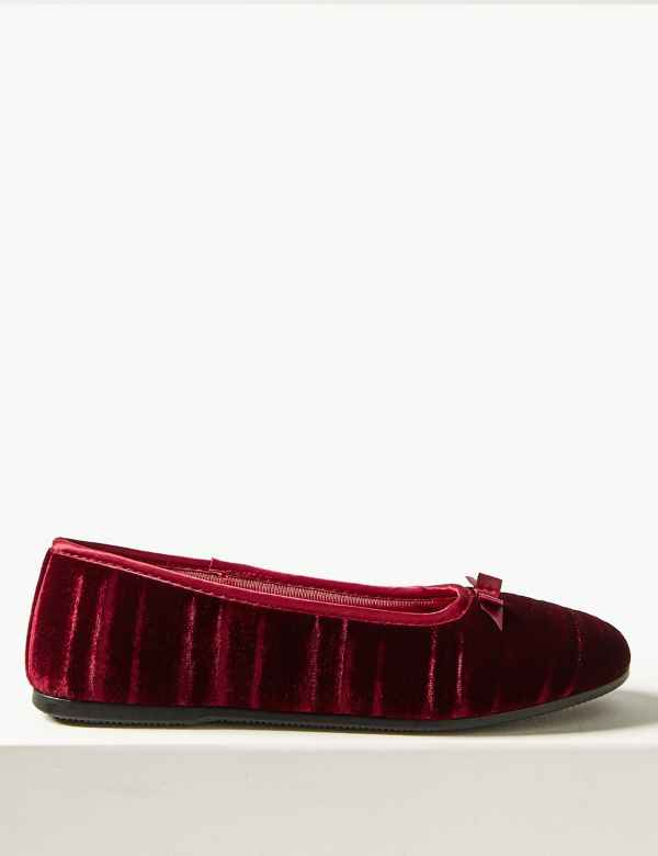 f4a3954446 Striped   Embossed Ballerina Slippers