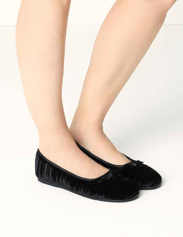 c0a5a1945bd0 Striped   Embossed Ballerina Slippers