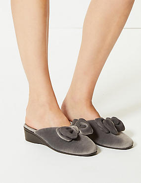 Bow Mule Slippers