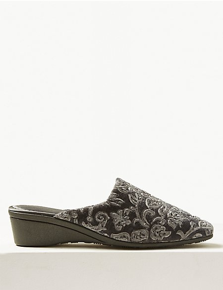 Floral Mule Slippers