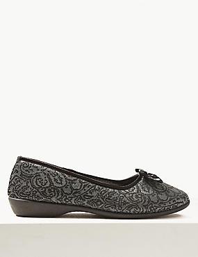 Jacquard Ballerina Slippers