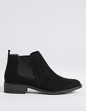 Block Heel Chelsea Ankle Boots