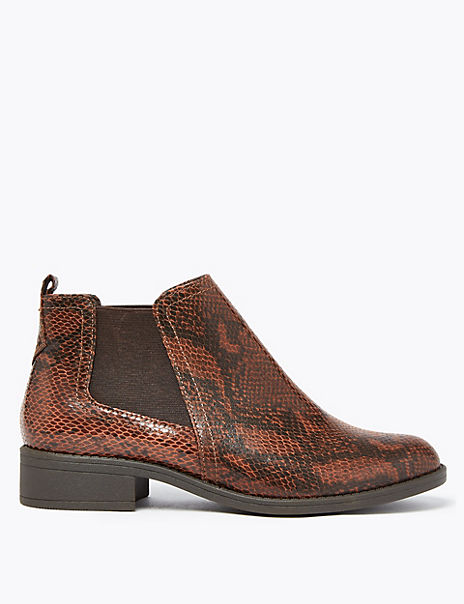 Animal Print Chelsea Ankle Boots