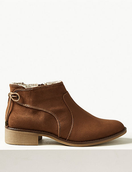 Tie Back Ankle Boots