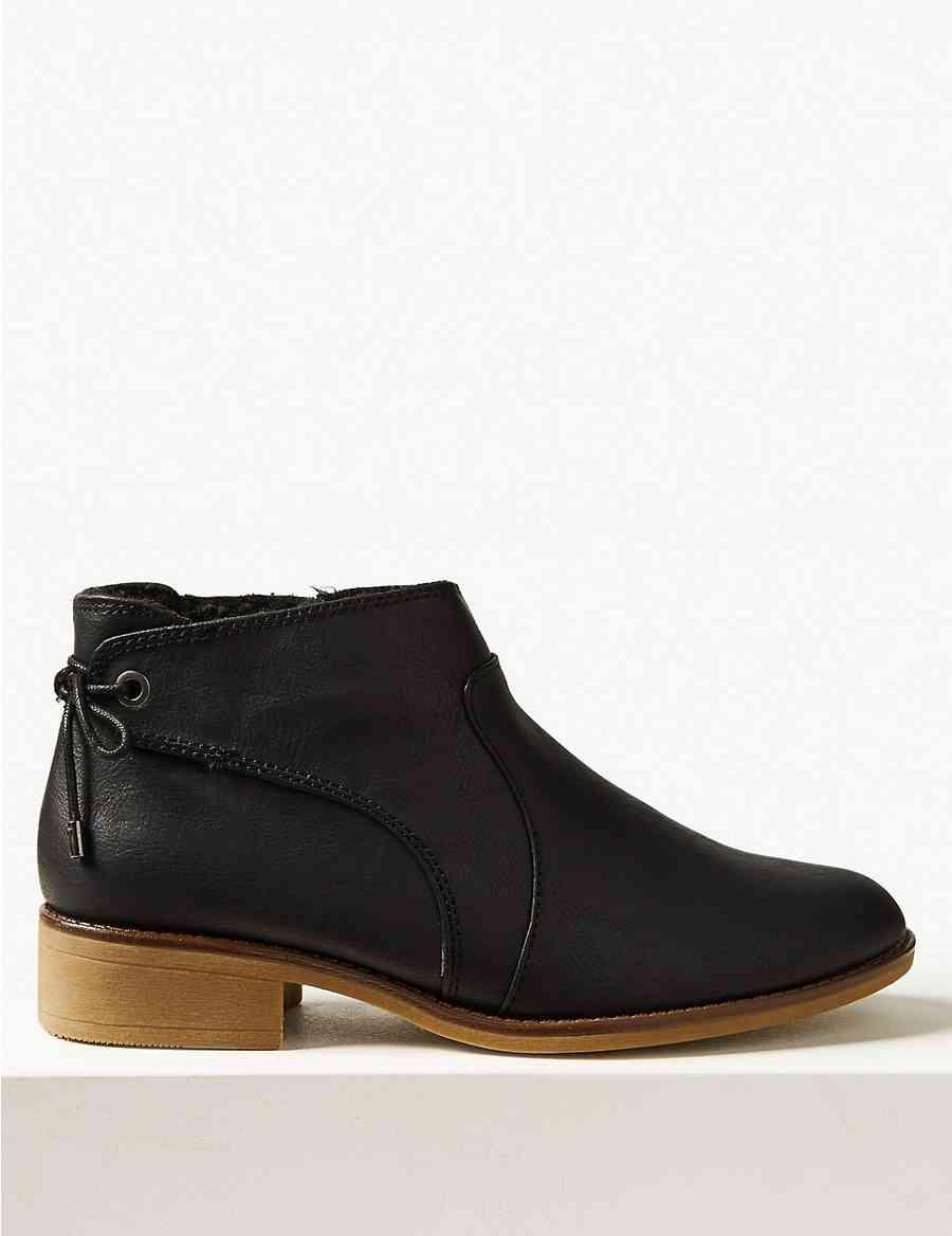 808889e4c8ce Tie Back Ankle Boots