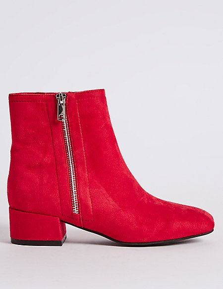 side-zip ankle boots