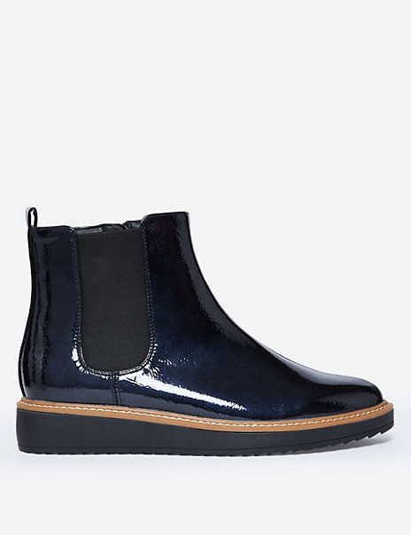Flatform Chelsea Ankle Boots