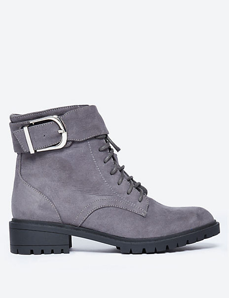 Cleated Hiker Ankle Boots