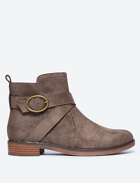 Cross Strap Ankle Boots