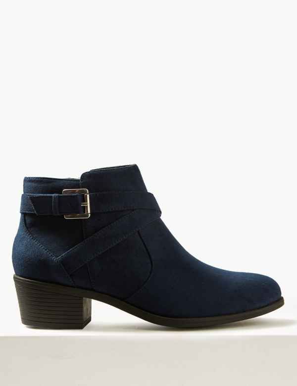 6e8e76a2294e Side Buckle Ankle Boots