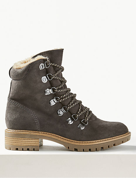 Lace-up Ankle Hiker Boots