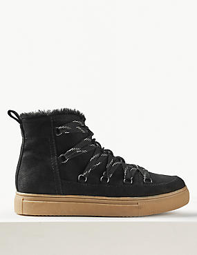 Lace-up Ankle Snow Boots