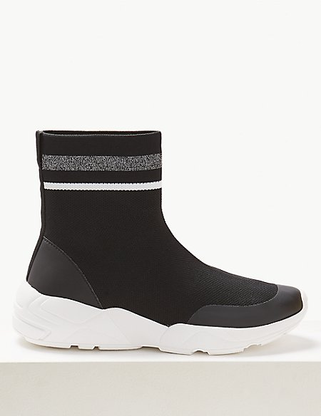 Athletic Knitted Sock Boots