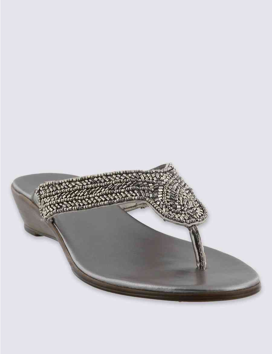 3cb6d33d01f8d Embellished Bling Wedge Sandals