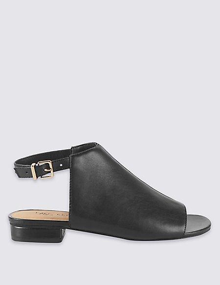 Block Heel High Vamp Sandals