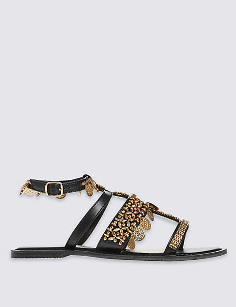 Coin Detailed Sandals