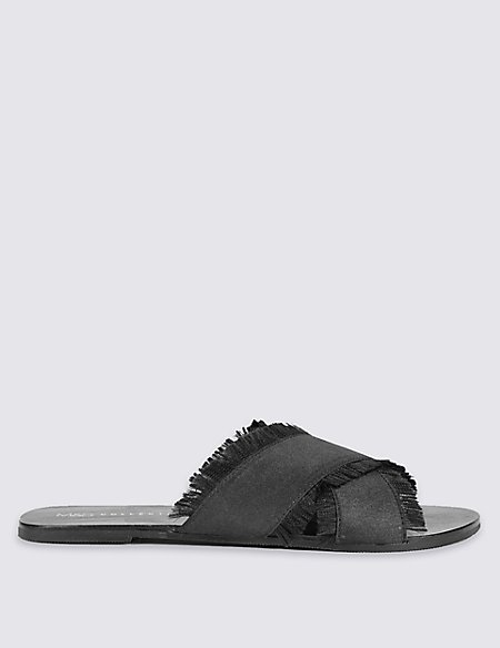 Cross Over Mule Sandals