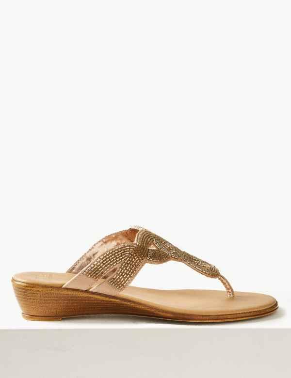 3e8a95e96c2b1 Bling Wedge Mule Sandals