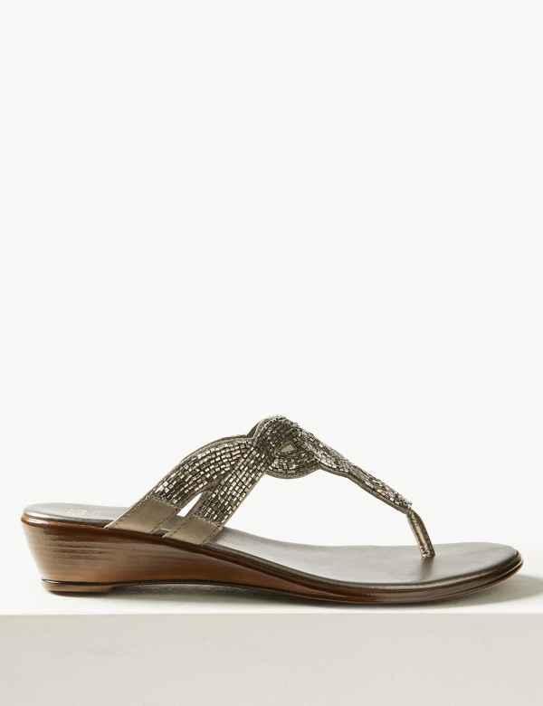 e785d89d56430d Bling Wedge Mule Sandals